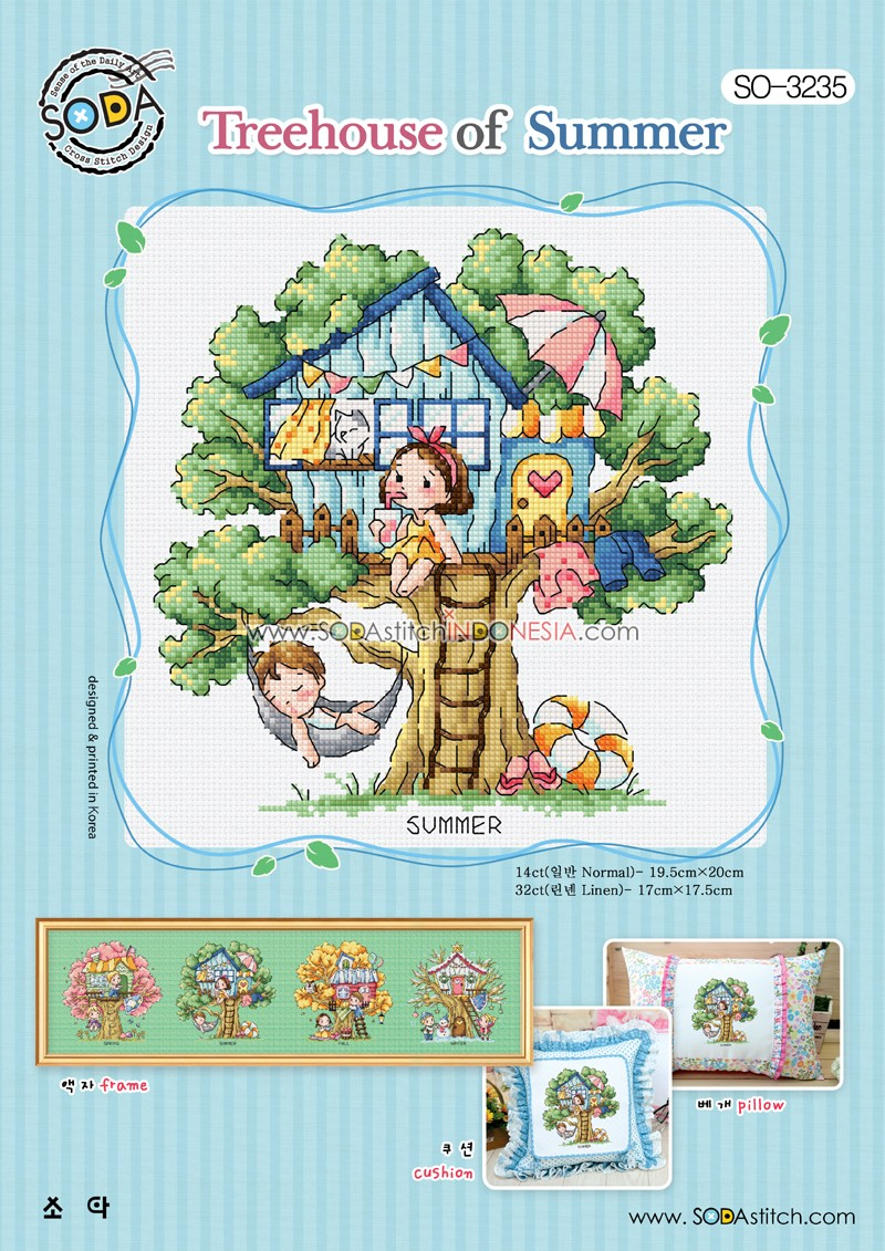 Sodastitch Indonesia PKT-SO-3235 - Paket Treehouse Of Summer
