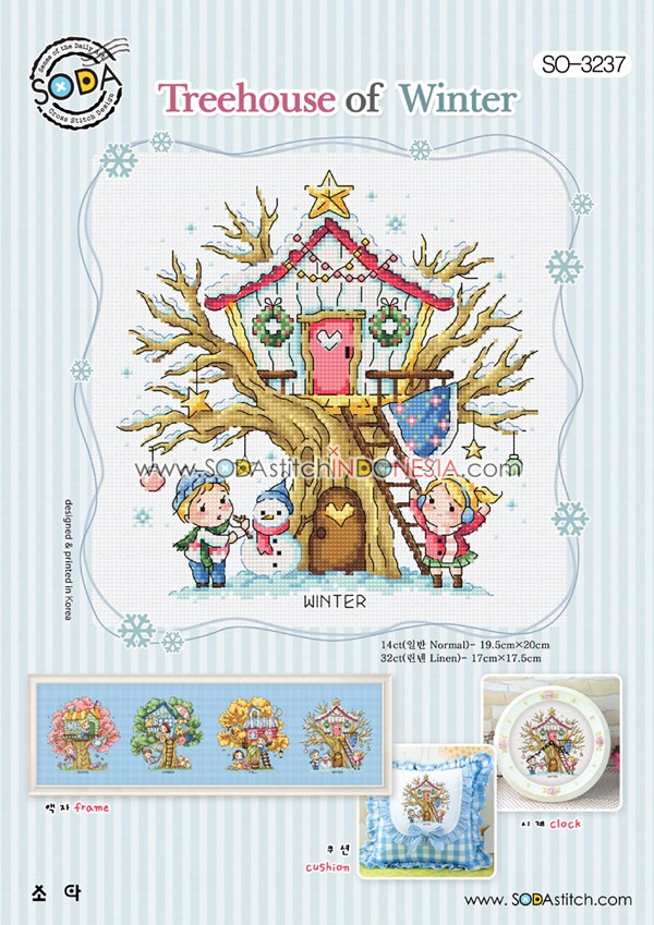 Sodastitch Indonesia PKT-SO-3237 - Paket Treehouse Of Winter