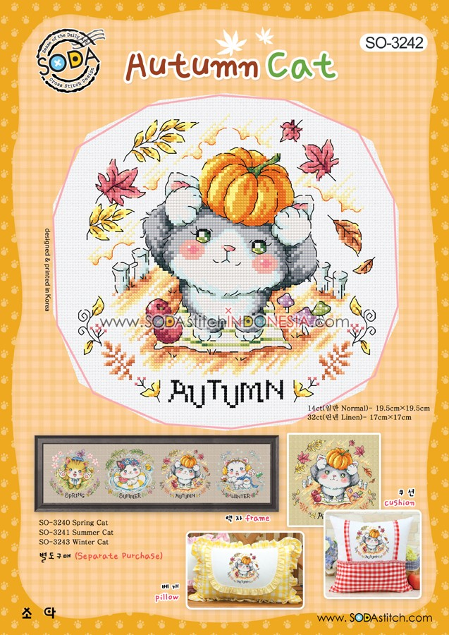 Sodastitch Indonesia PKT-SO-3242 - Paket Autumn Cat
