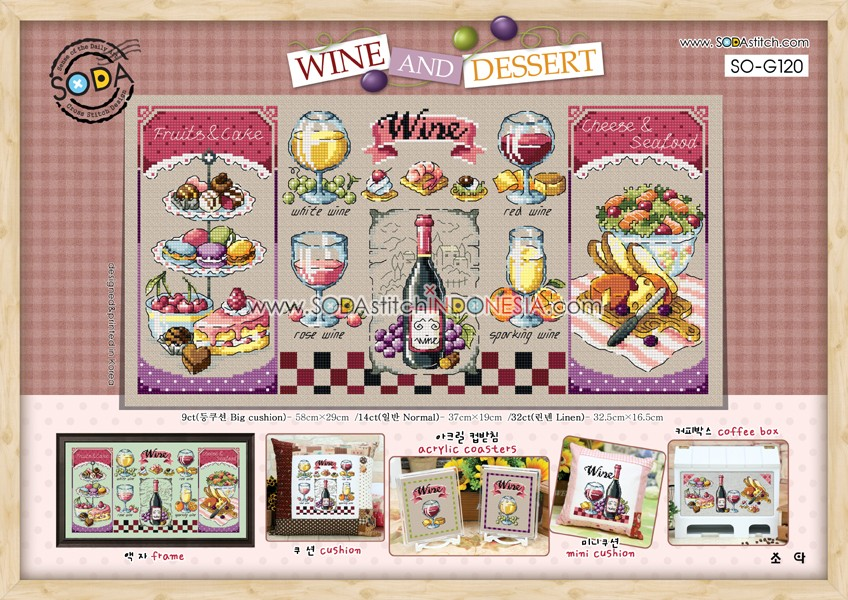 Sodastitch Indonesia PKT-SO-G120 - Paket Wine And Dessert