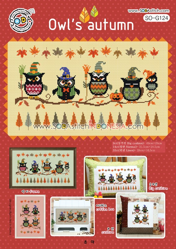 Sodastitch Indonesia PKT-SO-G124 - Paket Owl's Autumn
