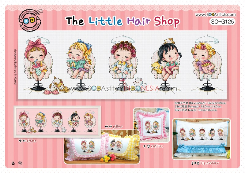 Sodastitch Indonesia PKT-SO-G125 - Paket The Little Hair Shop
