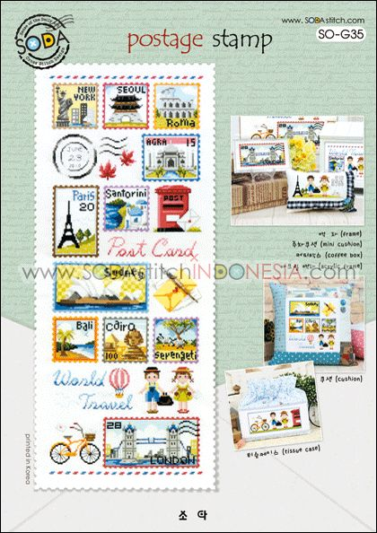 Sodastitch Indonesia PKT-SO-G35 - Paket The World's Postage Stamp