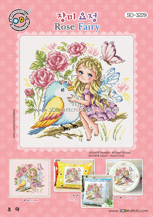 Sodastitch Indonesia SO-3229 - Rose Fairy